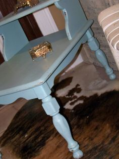 Shabby Vintage End Table Nightstand by TraceysFancy on Etsy, $75.00