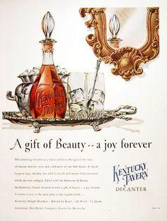 1952 Kentucky Tavern Bourbon Whiskey original vintage ad