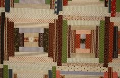 Courthouse Steps Log Cabin Quilt: Circa 1870; Pa.