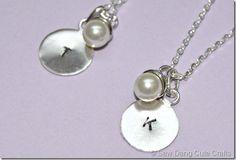 DIY Monogrammed Necklaces