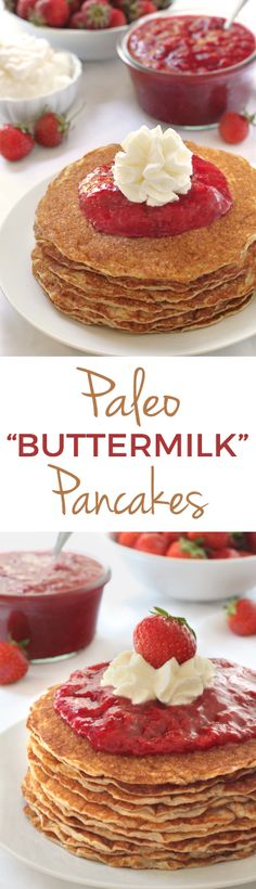 Paleo Buttermilk Pancakes {grain-free, gluten-free, and dairy-free}