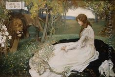 Una and the Lion - Septimus Edwin Scott