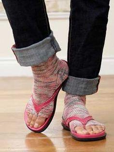 Pedicure Socks | Free Pattern | Yarnspirations