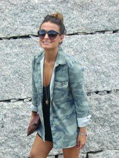 teresitatg Outfit  militar camuflaje  Verano 2012. Combinar Camisa-Blusa Verde oliva Lefties, Cómo vestirse y combinar según teresitatg el 15-8-2012