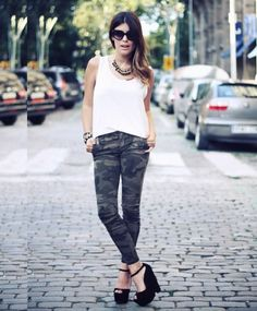 Cmuflada #camuflada #calça #streetstyle #fashion #style #moda #look #looks #roupas #clothes