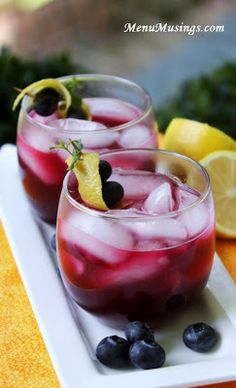 Blueberry Lemonade - celebrate the flavors of summer with this extraordinary lemonade with the antioxidant power of the mighty blueberries (and you can decide to have it with or without the rum).  Step-by-step photos.