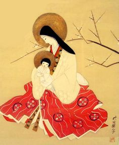 Japanese Christian Orthodox Icon (in the Nihonga style of the late 19th-early 20th century)  Submitted by Bogdan
