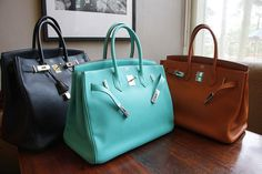 that Tiffany blue one....hermes, nice...