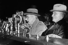 """Franklin Roosevelt, left, and Harry Truman, shown here in 1944, had little to do with each other in the White House—which meant that Truman took office in April, 1945 with very little preparation. """"I'm not big enough,"""" Truman said to a Senate friend the day after Roosevelt died. """"I'm not big enough for this job."""""""