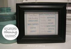 Organized Cleaning Routine - FREE Printable - Clean Mama