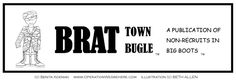 Brat Town Bugle! FREE template for kids to make their own newspaper to stay in touch with a deployed parent! GENIUS!