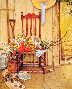 Spring Flowers by Norman Rockwell (1969)