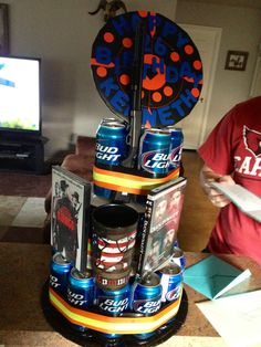 Bud Light Beer Can Cake