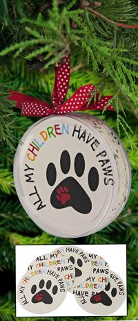 All+My+Children+Have+Paws+Coaster+Set+Ornament+at+The+Animal+Rescue+Site