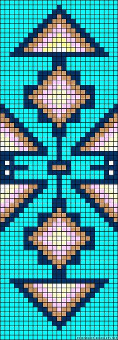 Strings: 26 Colors: 7 Rows: 72 #FriendshipBracelet #Alpha #Aztec  #A57512