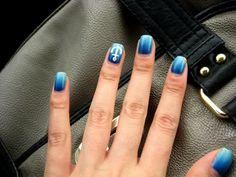 Anchors Away nail art via Preposterously's Nail Blog
