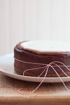 Chocolate Beer Cheesecake With A Pretzel Crust