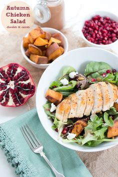 Autumn Chicken Salad   chocolateandcarrots.com