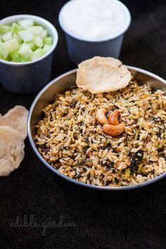 Palak Pulao Recipe - Spinach Rice