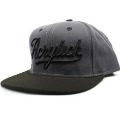 Acrylick Script Snapback Hat (Monotone) $31.95