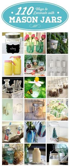 101 Ways To Decorate With Mason Jars - DIY Ideas 4 Home