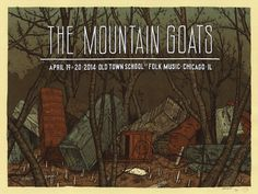 Mountain Goats - gig poster - Landland