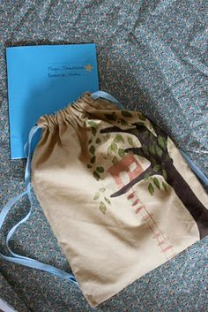 homemade backpacks and notebook