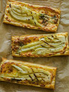 Grilled Fennel Tarts  #vegetarian #recipe