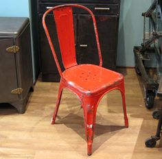 Original Red Tolix Chairs | quintessential duckeggBLUE tolix chair