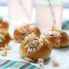 Mini Shrimp Rolls on Buttered Challah ~ So easy, light and perfect for summer!