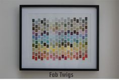 FabTwigs: DIY Paint Chip Art
