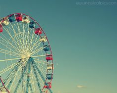 Seaside Heights Boardwalk - ferris wheel - Funtown Pier - Jersey Shore Carnival photography, Nursery Art.