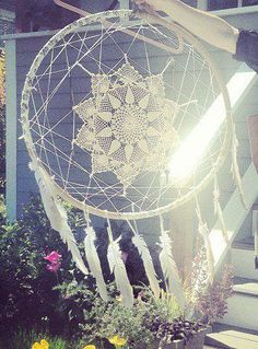 Dream Catcher with lace and tassels