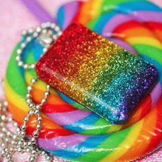 Color Spectrum - Resin Rainbow Necklace.