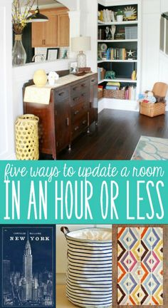 5 Quick and Easy Room Updates - make your room feel fresh and new in under an hour! @Remodelaholic #spon #homedecor #weekendproject