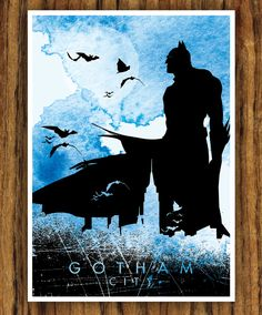 Batman Movie Poster - Gotham City. via Etsy.