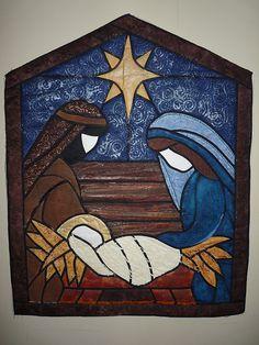 nativity quilt / bello para hacerlo en repujado, patchwork decoupage o esmalte sobre madera