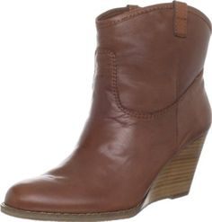 Bandolino Women's Master Bootie.  $109.00 - $109.95            Kick out in this western-inspired wedge bootie from Bandolino. The Master features a stitched leather upper with pull tabs for an easier on. Beneath, a sculpted wedge heel lifts, while the manmade sole ensures your every step remains true.
