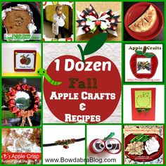 1 Dozen Fall Apple Crafts and Recipes