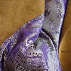 Custom Ultrasuede blazer jacket/purple-gold interior lining from NELSON WADE in Scottsdale, Arizona.