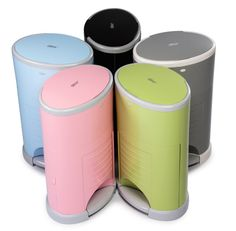 The Dekor diaper pail puts style and color back into the dirty work. #giftguide #gift #diaperpail