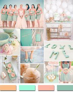 blush mint and pink summer beach wedding color ideas 2014 #elegantweddinginvites