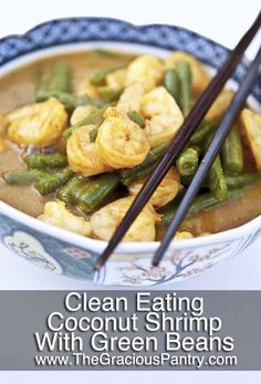 Clean Eating Coconut Curry Shrimp #cleaneating