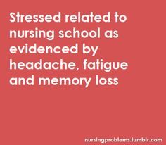 My nursing school diagnosis