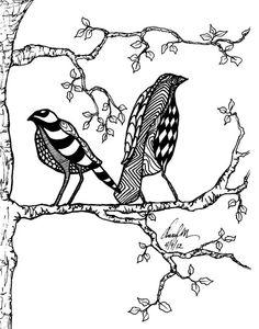 Zentangled Birds