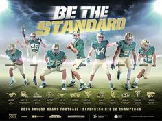 Official 2014 #Baylor Football schedule poster #SicEm #BeTheStandard