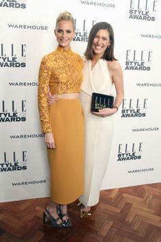 Red Carpet Designer of the Year: Emilia Wickstead, with presenter Poppy Delevingne