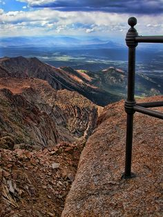 Pikes Peak Summit, Pike National Forest, Colorado Springs, Colorado by moonglampers