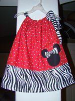 Minnie Mouse applique Pillowcase Dress