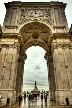 Lisbon, Portugal - triumph arch, Lisbon's downton #PORTUGALmilenar